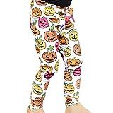 VICGREY  Pantaloni Casual Bambino Bambini Baby Zucca Ragazze Halloween Bat Abiti Magro Pantaloni Leggings Elegante