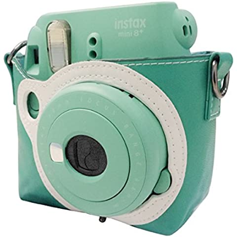 Takashi Protective PU Leather bag with Strap–Mint for Fujifilm Instax Mini 8Instant Camera