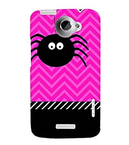 Spider Clipart 3D Hard Polycarbonate Designer Back Case Cover for HTC One X
