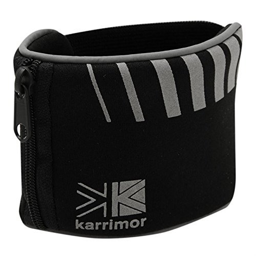 Runners Reflective Wrist Wallet Band Secure and Store SPI Small Personal Items Keys, Cards, Coins, ID, Identity. Reflective Detail for Hi Viz High Visibility whist running cycling, exercising, jogging etc. by Karrimor