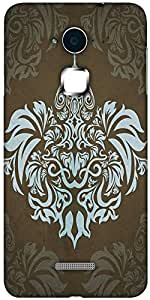 Snoogg Motif Patterns Hard Back Case Cover Shield For Coolpad Note 3 (White, 16GB)