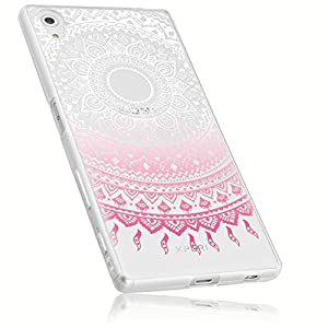 mumbi Protective Cover/Case For Sony Xperia Z5 Mandala Design Case Transparent Pink