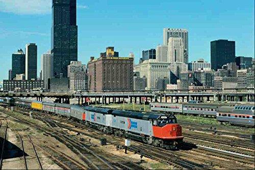 metal-sign-788068-amtrak-emd-frp-45-no-626-leaving-chicago-illinois-usa-a4-12x8-aluminium