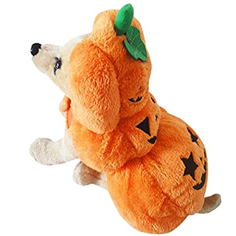 Funny Pumpkin Dog Pet Hoodie Thicken Clothes Halloween Dog Costume Plus Size Suit Teddy Dressing up Party Apparel Clothing XS-XL