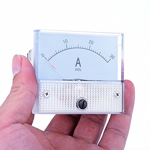 atoplee DC 0-30A Ampermeter Analog Amp Current Panel Meter Amperemeter Gauge Current Meter Amperemeter