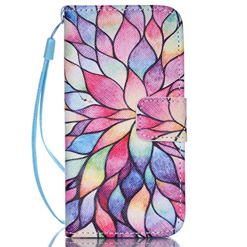 MOONCASE Étui pour iPhone 5C Printing Series Coque en Cuir Portefeuille Housse de Protection à rabat Case YB09 A01 #1117