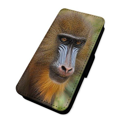 Mandrillo scimmia–Custodia ad aletta in pelle copertura di carta Apple Iphone 8 Plus
