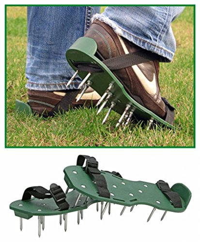 Rasenbelüfter Sandalen Vertikutierer Rasenlüfter 1Paar