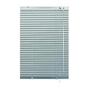 GARDINIA Aluminium Venetian Blinds, Visibility, Light and Glare Protection, Wall and Ceiling Mounting, Mounting Kit Included, Aluminium Venetian Blinds, Silver, 100 x 140 cm (WxH)