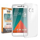 Orzly® - Coque FlexiCase pour HTC 10 SmartPhone (2016 Modèle) - Coque Souple Haute Qualité - Emballage Premium - 100% TRANSPARENTE