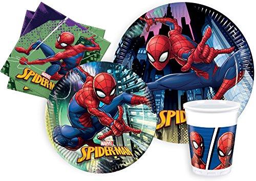 Ciao–Spider-Man Kit Party Tisch, mehrfarbig, L (24Personen), y4621
