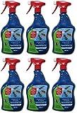GARDOPIA Sparpaket: 6 x 1 Liter Bayer Blattanex Ungeziefer & Ameisen Spezial-Pump-Spray + Gardopia Zeckenzange mit Lupe