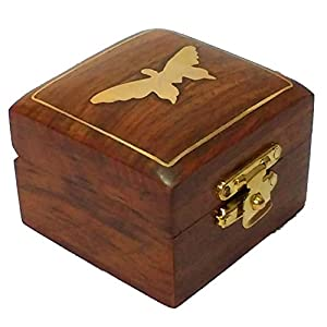 Hashcart Wooden Handcrafted Jewellery Box (Brown)