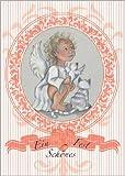 Im 5er Set: Weihnachtskarte: Ein schönes Fest wünscht dieser niedliche blonde Engel, rot