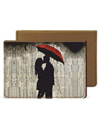 Couple In Rain Credit Card Wallet By Robobull