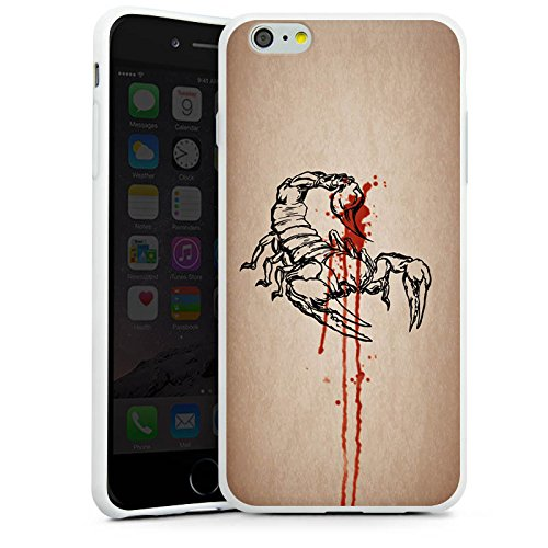 Apple iPhone X Silikon Hülle Case Schutzhülle Skorpion Halloween Gift Silikon Case weiß