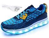 Mr.Ang Unisex Muchacha de los Muchachos de La Carga del USB LED de Luz Luminosa Zapatillas Deporte Patín