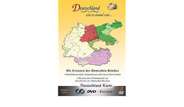 Deutschland Karte Die Grenzen Des Amazon Co Uk Dvd Blu Ray