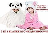 #9: BRANDONN NEWBORN ORIGINALS PREMIUM SUPERSOFT COMBOS BABY BLANKET FOR BABIES(WHITE, PINK-WHITE ; PACK OF 2)