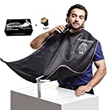 SUNWALY Shave Apron Trim Your Beard In Minutes Without The Mess And Stop Clogging Your Sink! Quality Grooming Cape - Kee