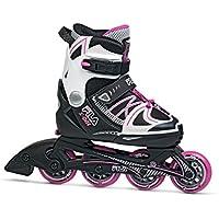 Fila Skates X-One - Pattini in linea da ragazza, Nero/bianco/rosa, XL