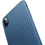 iPhone X TPU Hülle, ROCK iPhone X TPU Hülle Schutzhülle Silikon Case Bumper – Dot Serie Schutz vor Stürzen und Stößen Schutzhülle für iPhone X Case Cover - blau