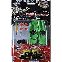 Grip&Tricks - Finger Roller Pack 1 - Mini Inline Skates - Model 14 - Yellow and Black