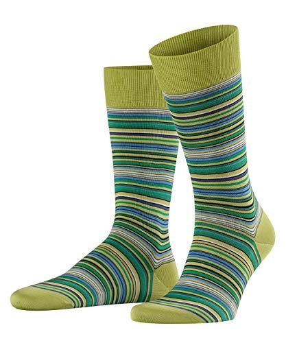 FALKE Herren Microblock Socken, Mehrfarbig (Lime 7126), 45/46