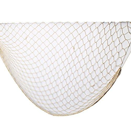 Sicai, dekoratives Fischernetz, weiß, dekorativer Hintergrund, für Bar oder Party, hängende Dekoration, 100x 200cm