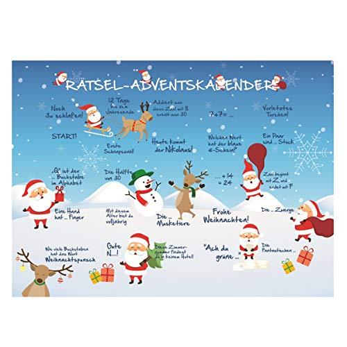 Lindt Tisch-Adventskalender-Schokolade Weihnachten Rätsel 1er Pack (1 x 120 g)