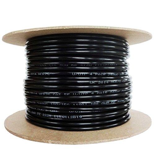 Strang Kabel CAT.5e OUTDOOR PE-Netzwerkkabel Ethernet Kupfer 100%-Farbe Schwarz (50m) - Outdoor-cat5e-kabel