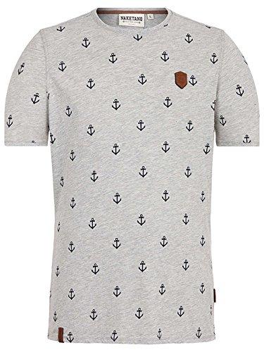 Naketano Male T-Shirt Fuck Grey Melange