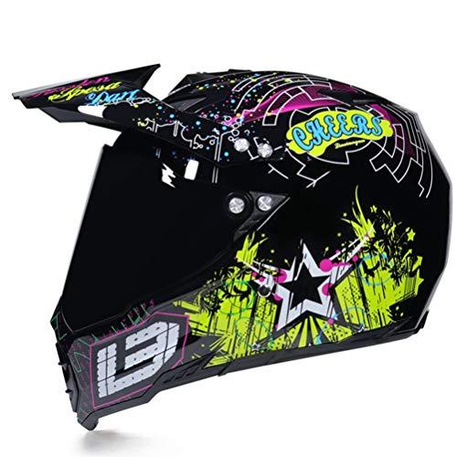 Caschi da Motocross per adulti Anti Fog Antivento Full Face Off Road Caschi da corsa Anti crash Downhill Casco Moto Stagioni Univers