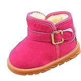KUDICO Mädchen Jungen Baby Stiefel Winter Warme Plüsch Gefüttert Warm Hüttenschuhe Kuschelige Indoor Outdoor Pantoffeln Schuhe Schlupfstiefel (Hot Pink, 26 EU/3-3.5 Jahre)
