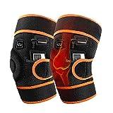 ZWPY Elektrisch Beheizte Knieschoner, Beinmassagegerät Einstellbare Temperatur Knieschoner für Verbesserung Muskelsteifheit Muskelschmerzen