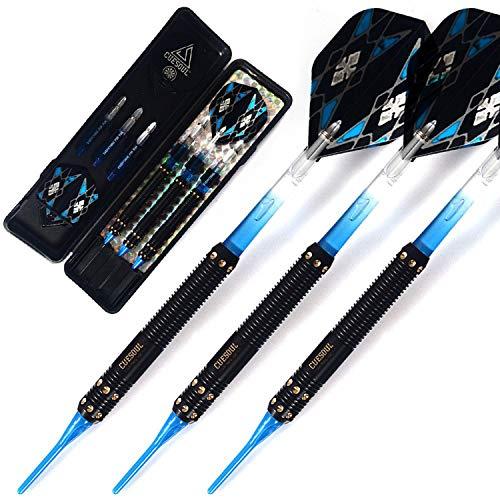 Professionelle elektronische Soft-Dartpfeile mit verschiedenen Stilen Dartflights, blau PC Dart-Schaft Einheitsgröße mehrfarbig