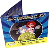 CD, AUDIO-Video-Vibratoren Tennis Racontés mit Musik und Video 3 ist für Kinder ab 6 Jahren, &Music Play Sports