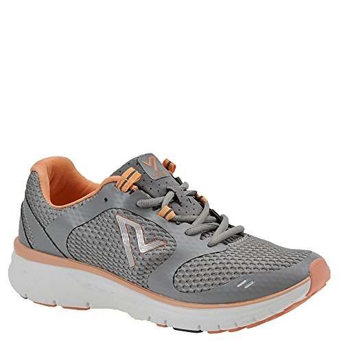 VIONIC Women's Elation Sneaker in Grey and Coral (Womens Orthaheel Schuhe)