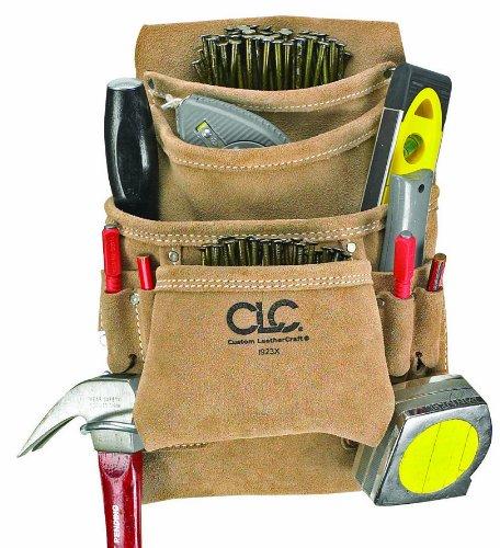 Custom Leathercraft I923X 10-Pocket Leather Nail Bag-10-POCKET NAIL/TOOL BAG (Pocket 10 Tool Leather)