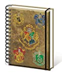 Harry Potter Carnet Bloc-Notes - Hogwarts, Blason (21 x 15 cm)