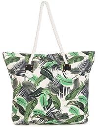 Rip Curl Palm Island Bolsa de Tela y de Playa, Color Blanco