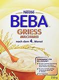 Beba Milchbrei Grieß, 9er Pack (9 x 250 g)