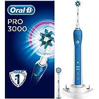 Oral-B PRO 3000 CrossAction Elektrische Zahnbürste mit visueller Andruckkontrolle, blau