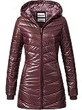 Sublevel Damen D5112U44246C-BS Winterjacke Steppmantel mit Kapuze aus hochwertigem Material Rot S