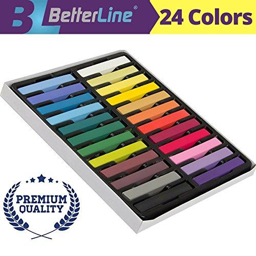 Hair Kreide Satz mit 24 Farben - Ungiftige -