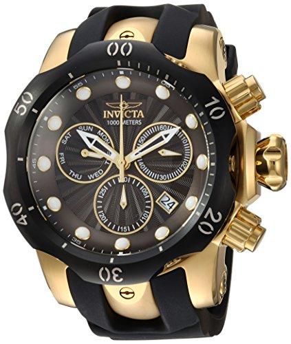 INVICTA Venom Herren-Armbanduhr Armband Kunststoff Gold Schweizer Quarz 24257 (Für Männer Venom Uhren Invicta)