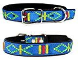 Lovely Lauri Strapazierfähiges Nylon Hunde Halsband Native Look Große Hunderassen L XL XXL Bunt Türkis L