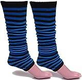 A-Express Mujer Chicas Rayas Calentadores de piernas para tutú Disfraces