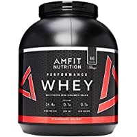 Amazon Brand - AMFIT NUTRITION Protein Drink Mix, Strawberry Delight, 1980 g