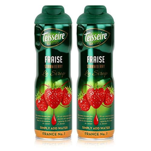 Teisseire Getränke-Sirup Strawberry/Erdbeer 600ml - Sirup der genauso schmeckt wie die Frucht (2er Pack)